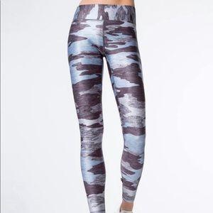 Terez heather blue camo leggings